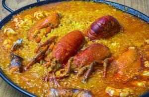 Menú de arroz con bogavante o marinero para dos