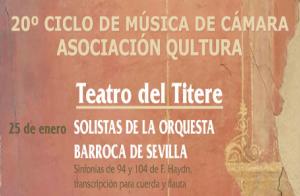 20º Ciclo de Cámara: Solistas Orquesta Barroca de Sevilla