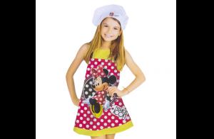 Set de Minnie Mouse: delantal + gorro