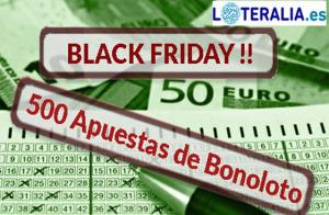 Peña de Bonoloto BlackFriday100 de 500 apuestas